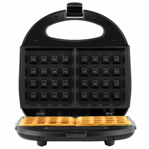 Continental 2-Slice Waffle Maker Black Perspective: front