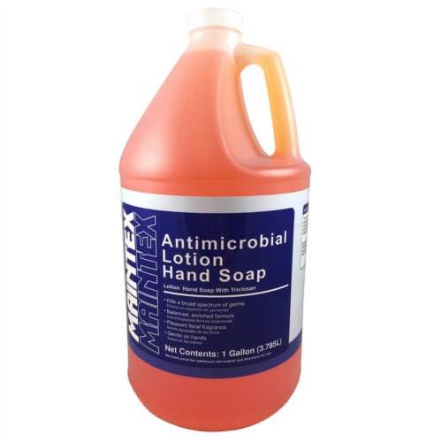 Maintex  Clean Scent Antibacterial Antimicrobial Lotion Soap  1 gal. - Case Of: 4; Perspective: front