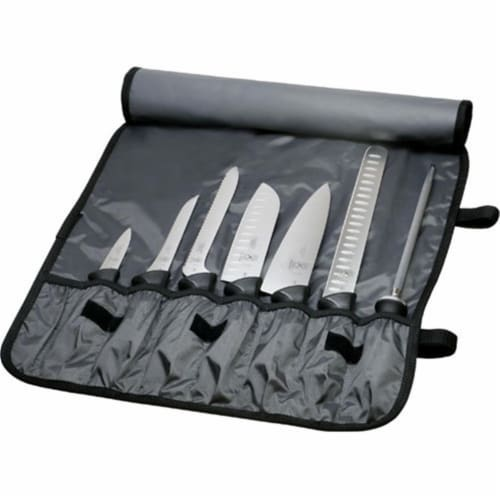 Mercer Tool 8 Pieces Knife Roll Set Perspective: front