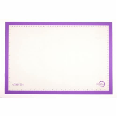 Mercer Tool M31093PU Silicone Bake Mat with Purple Border 11.88 x 16.5 in. Perspective: front