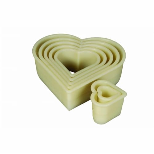 Mercer Tool 7-Pieces Heart Plain Nylon Cutter Set Perspective: front