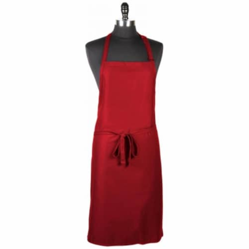 Mercer Tool M61120RD Genesis Bib Apron Without Pocket, Red Perspective: front