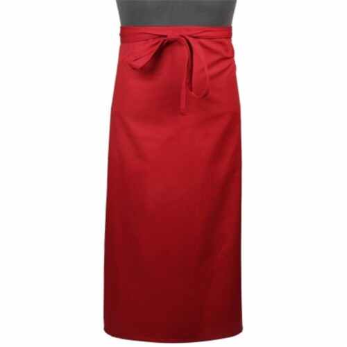 Mercer Tool M61130RD Genesis 2-Sided Bistro Apron, Red Perspective: front