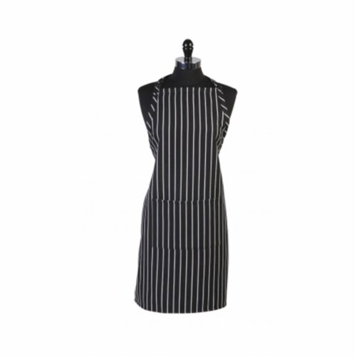 Mercer Tool M61110BCS Genesis Bib Apron With Pocket, Black Chalk Stripe Perspective: front