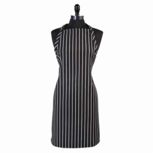 Mercer Tool M61120BCS Genesis Bib Apron Without Pocket, Black Chalk Stripe Perspective: front