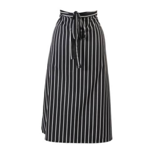 Mercer Tool M61130BCS Genesis 2-Sided Bistro Apron, Black Chalk Stripe Perspective: front