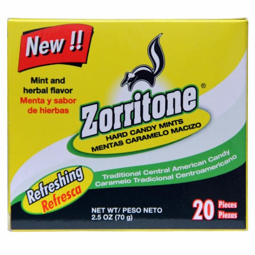 Zorritone Mint and Herbal Flavor Hard Candies Perspective: front