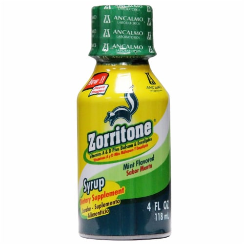Zorritone Mint Flavored Dietary Supplement Syrup Perspective: front
