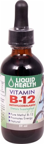 Liquid Health Vitamin B-12 Methylcobalamin Perspective: front