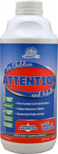 Liquid Health  Attention For Children & Adults   Fruit Perspective: front