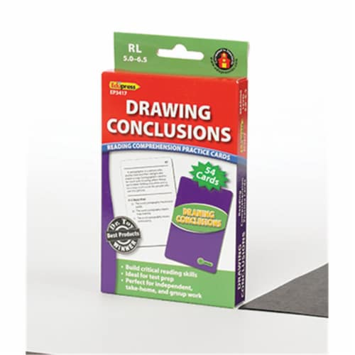 Drawing Conclusions Reading Comprehension Cards, Reading Levels 5.0-6.5 Perspective: front