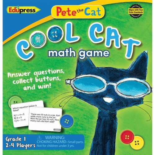 Teacher Created Resources 63531 Pete the Cat Cool Cat Math Game 1 Perspective: front