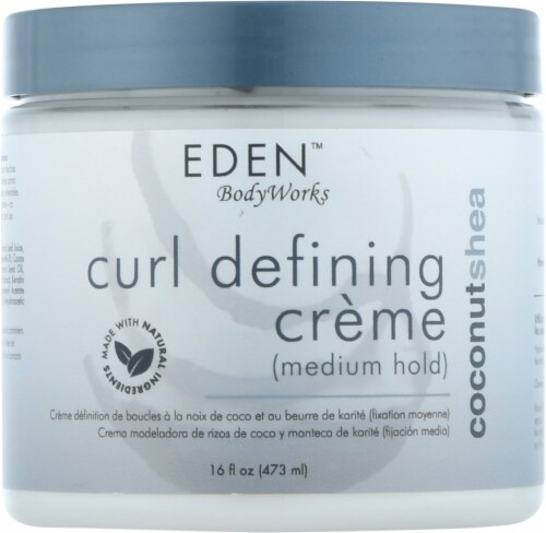 Eden Coconut Shea All Natural Curl Defining Creme Perspective: front