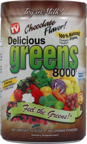 Greens World Inc.  Delicious Greens 8000®   Chocolate Perspective: front