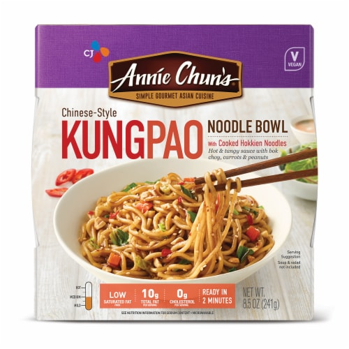 Annie Chun's Chinese-Style Kung Pao Noodle Bowl Perspective: front