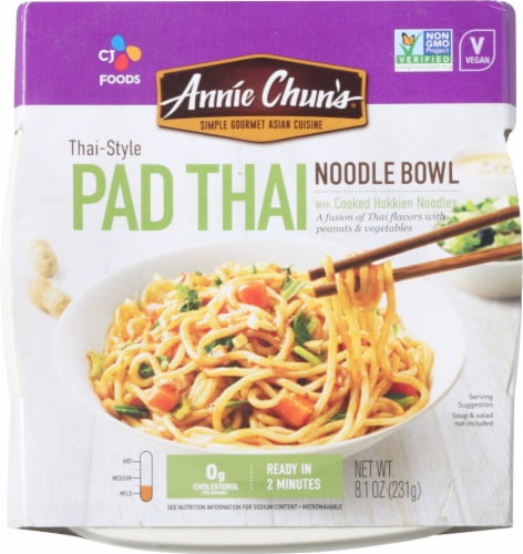 Annie Chun's Thai-Style Pad Thai Noodle Bowl Perspective: front