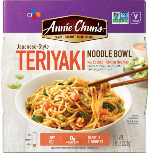 Annie Chun's Japanese-Style Teriyaki Noodle Bowl Perspective: front