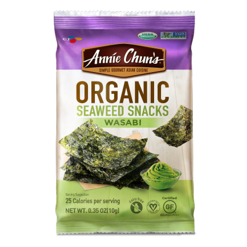 Annie Chun's Organic Wasabi Seaweed Snack Perspective: front