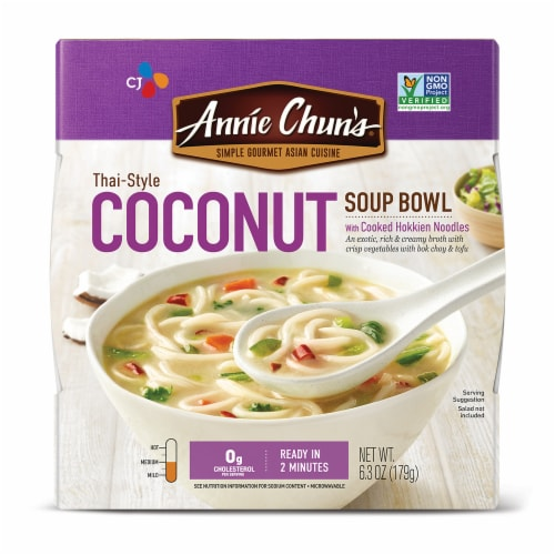 Annie Chun's Thai-Style Coconut Soup Bowl Perspective: front