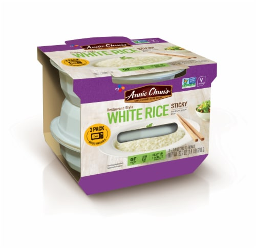 Annie Chun's Sticky White Rice Perspective: front