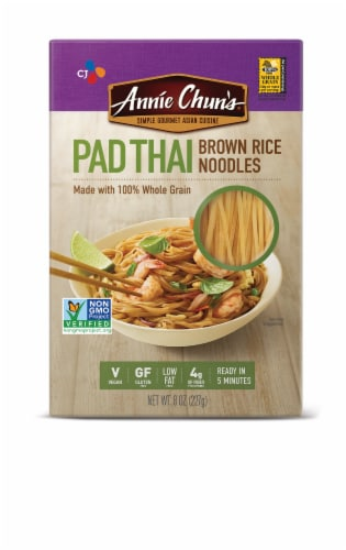 Annie Chun's Pad Thai Brown Rice Noodles Perspective: front