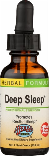 Herbs Etc. Deep Sleep Fast-Acting Dietary Supplement Perspective: front