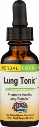 Herbs Etc. Herbal Formula Lung Tonic Dietary Supplement Perspective: front