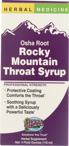 Herbs Etc Herbal Medicine Osha Root Rocky Mountain Throat Syrup Supplement Perspective: front