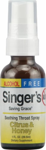 Herbs Etc.  Singer's Saving Grace® Alcohol Free   Citrus and Honey Perspective: front