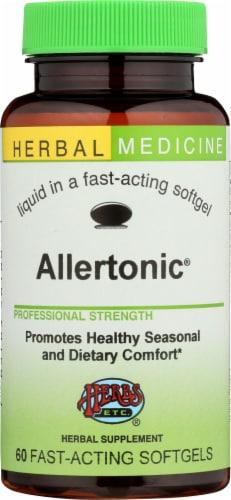 Herbs Etc. Allertonic Herbal Supplement Softgels Perspective: front