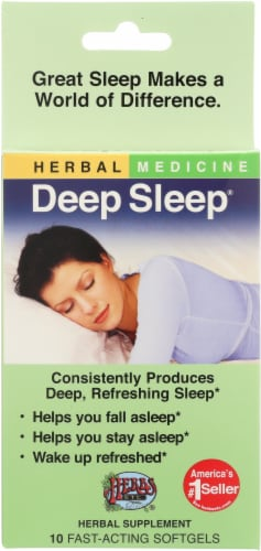 Herbs Etc. Deep Sleep Fact-Acting Softgels 10 Count Perspective: front