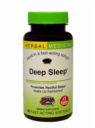 Herbs Etc. Deep Sleep Supplement Softgels Perspective: front