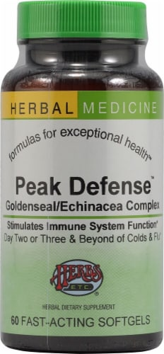 Herbs Etc.  Peak Defense™ Perspective: front