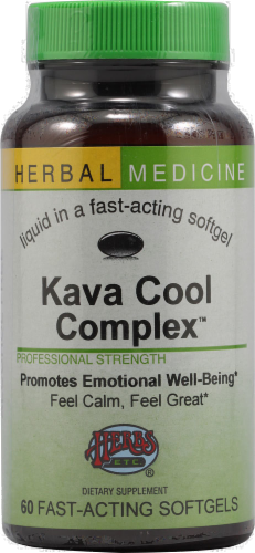 Herbs Etc. Kava Cool Complex Softgels Perspective: front
