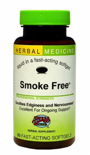 Herbs Etc. Smoke Free Smoking Cessation Softgels Perspective: front