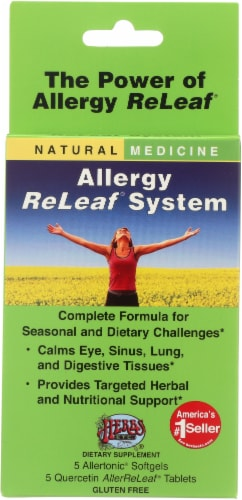 Herbs Etc. Allergy ReLeaf System Tablets Perspective: front