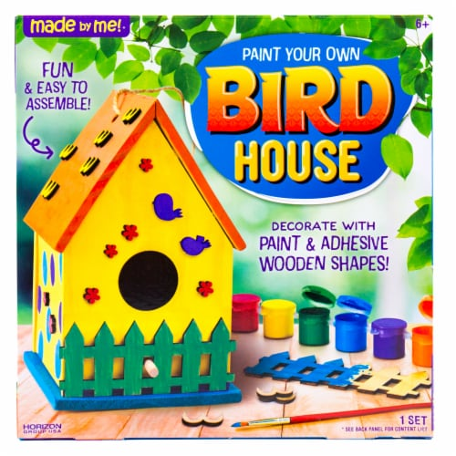 Horizon Group USA Made by Me Bird House Kit Perspective: front