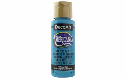 Decoart Americana Acrylic 2oz Calypso Blue Perspective: front