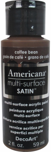 DecoArt Americana Multi-Surface Satin Acrylic Paint - Coffee Bean Perspective: front