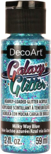 DecoArt Galaxy Glitter Acrylic Paint 2oz-Milky Way - Blue Perspective: front