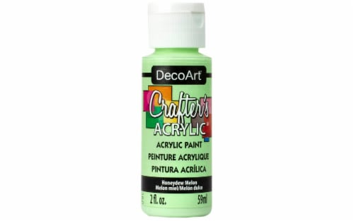 Decoart Crafter's Acrylic Paint 2oz Honeydew Melon Perspective: front