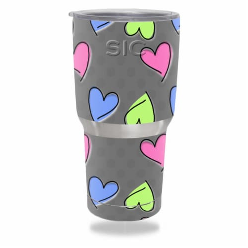 MightySkins SICTUM301-Girly Skin for SIC 30 oz Tumbler Seriously Ice Cold Wrap Cover Sticker Perspective: front