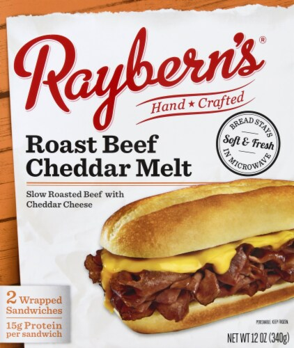 Raybern's Roast Beef Cheddar Melt Sandwich Perspective: front