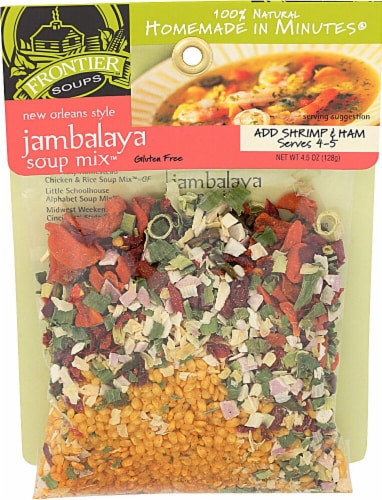 Frontier Soups  Homemade In Minutes® Gluten Free New Orleans Jambalaya Soup Mix™ Perspective: front