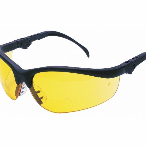 Mcr Safety Bifocal Safety Read Glasses,+1.50,Amber  K3H15A Perspective: front
