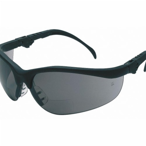 Mcr Safety Bifocal Safety Read Glasses,+2.50,Gray  K3H25G Perspective: front