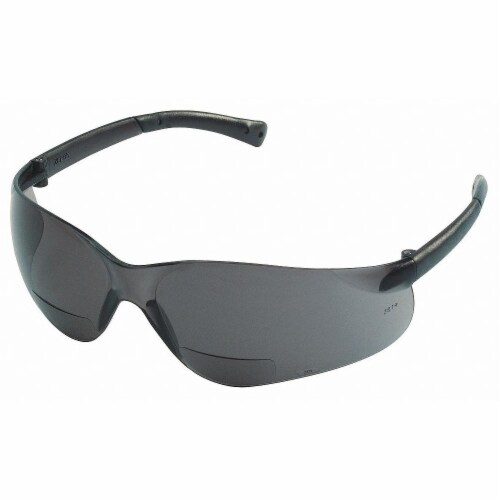 Mcr Safety Bifocal Safety Read Glasses,+2.00,Gray  BKH20G Perspective: front