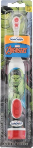 Arm & Hammer Kid's Spinbrush Avengers Super Hero Battery-Powered Toothbrush Perspective: front