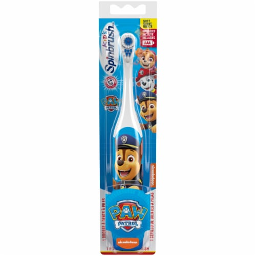 Arm & Hammer Kid's Spinbrush Paw Patrol Battery-Powered Toothbrush Perspective: front