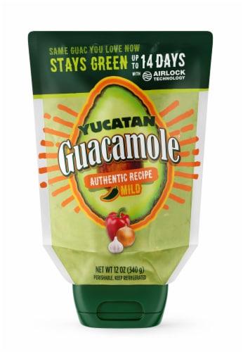 Yucatan Mild Authentic Recipe Squeeze Guacamole Perspective: front